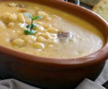 Итальянский суп с белой фасолью