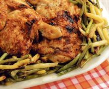 Курица с зеленой стручковой фасолью