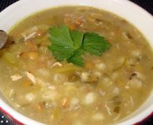 Суп из смеси бобовых