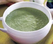 Суп-пюре из шпината в мультиварке