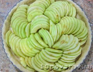 французский яблочный пирог фото