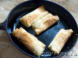 блинчики с начинкой ветчиной и сыром