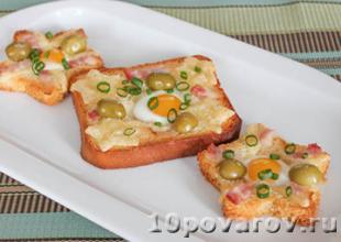бутерброды с перепелиным яйцом