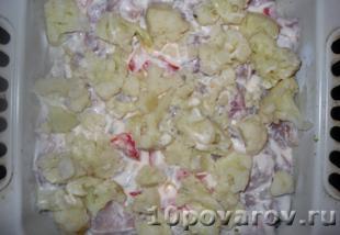 запеканка из брокколи с курицей в духовке