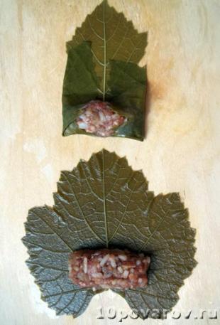 долма в виноградных листьях рецепт приготовления