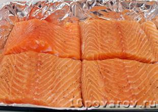 запеченный лосось в духовке рецепт с фото