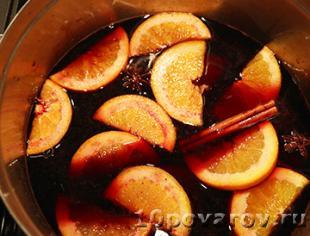 глинтвейн с апельсином