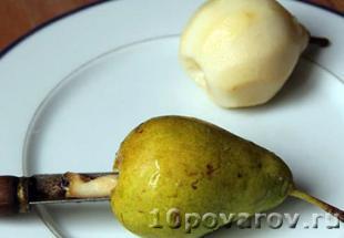 приготовление груши в вине