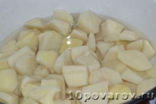Картофель тушеный с куриным филе приготовление