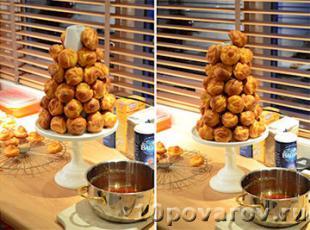 Французский десерт croquant bouche рецепт с фото