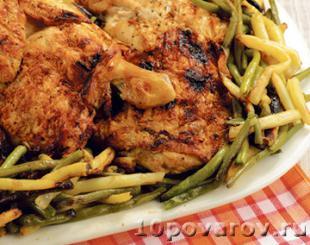 Курица с зеленой фасолью