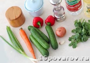 хрустящий овощной салат