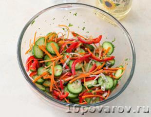 салат с огурцом перец морковь