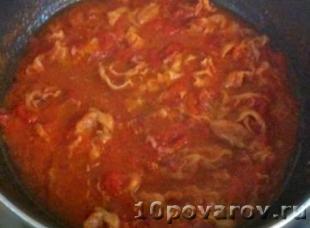 паста с беконом и томатами