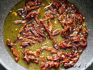 паста с вялеными помидорами рецепт с фото
