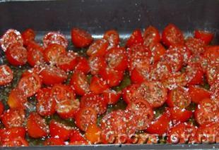 паста с запеченными помидорами