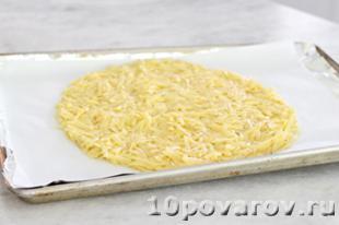 пицца на картофельной основе в духовке