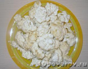 цветная капуста в кляре рецепты фото