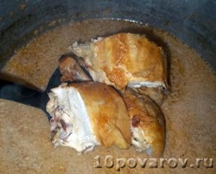 грузинская кухня сациви из курицы