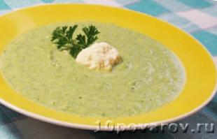 суп-пюре из брокколии и цветной капусты