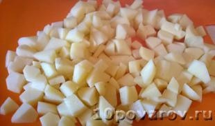 картофельная запеканка с мясом и грибами