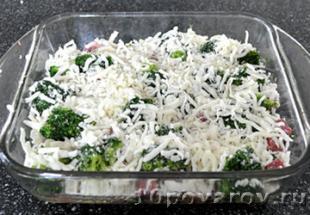 брокколи с ветчиной под сыром