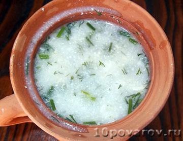 Армянский суп из мацони