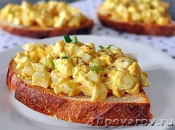 Бутерброды с вареным яйцом