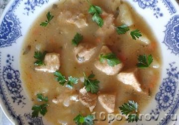 Чорба по-сербски из телятины