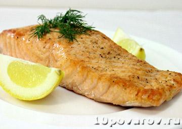 Филе лосося, запеченное в духовке