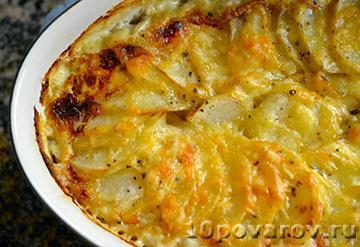 Картофельная гратен с мясом