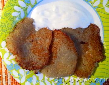 Картофельные драники с луком