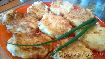 Оладьи из патиссонов с сыром