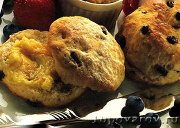 Печенье с черной смородиной