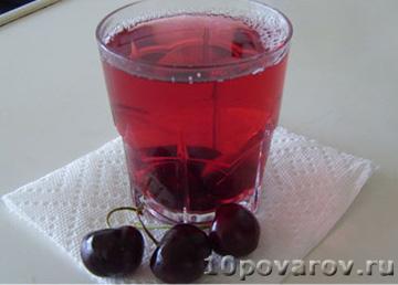 Вкусный вишневый компот