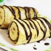 Блинчики с бананом и шоколадом