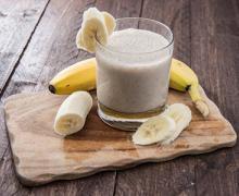 Смузи с бананом и имбирем