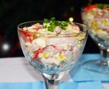 Салат с пекинской капустой, ветчиной и кукурузой