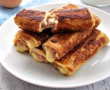 Французские тосты с ветчиной и сыром