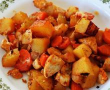 Картофельная запеканка с куриным филе в духовке