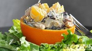 Куриный салат с апельсином