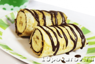 как приготовить блины с бананом и шоколадом