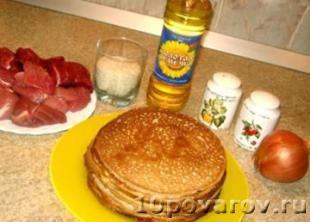 рецепт фаршированных блинов с мясом и рисом