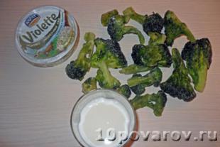 рецепт брокколи в сливочном соусе