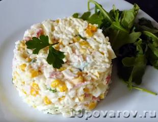 Крабовый салат из Ленты