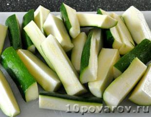 Хрустящие палочки из кабачков в духовке