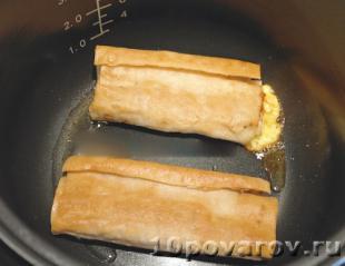 Лаваш с сыром в мультиварке