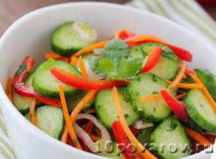 салат морковь огурец перец болгарский
