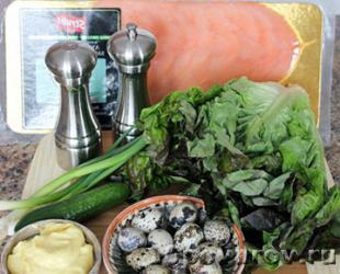 салат с копченым лососем рецепт