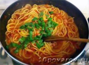 паста с беконом и помидорами рецепт